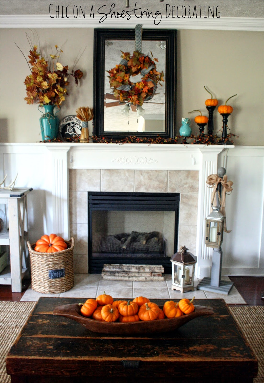 chic on a shoestring decorating black orange fall decor