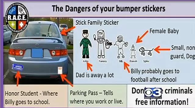 Berbahaya Tempel Stiker `Ayah, Ibu, Anak` di Mobil