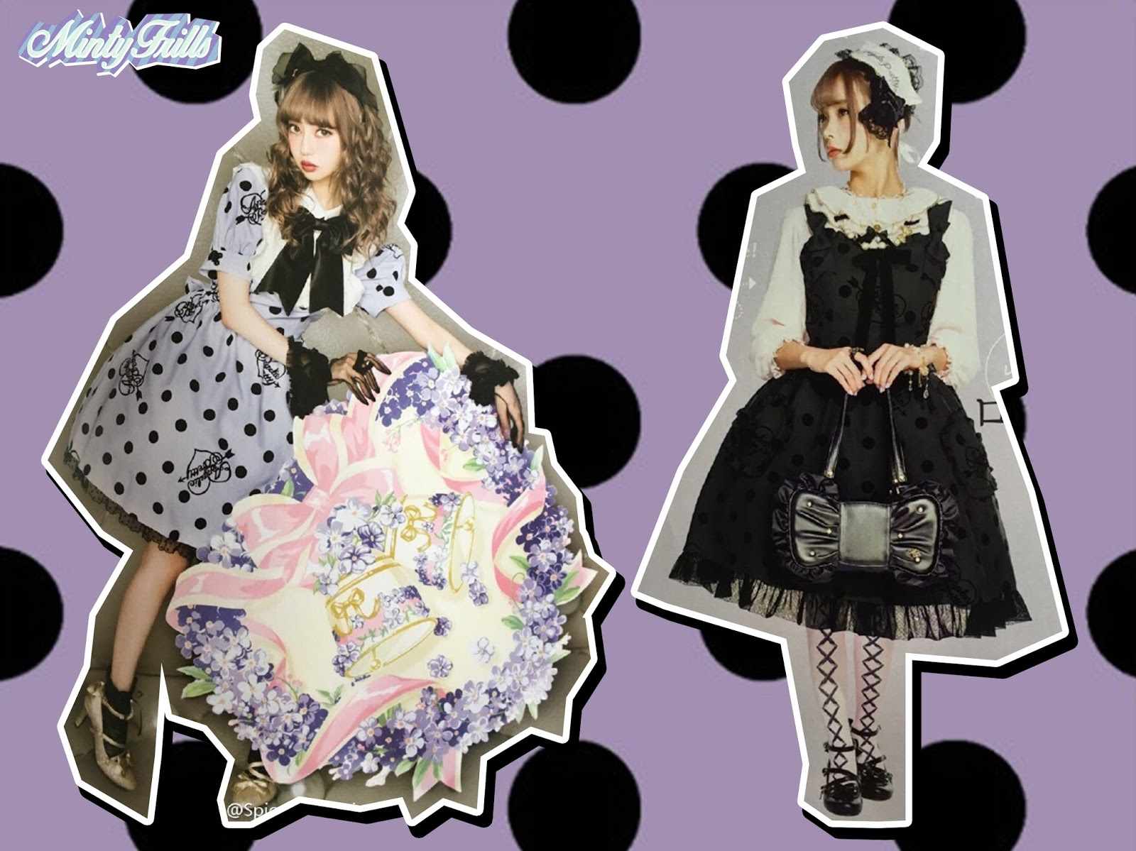 Mintyfrills Fall Winter Collection Kawaii Sweet Lolita Cute Harajuku. Dolly  Dot