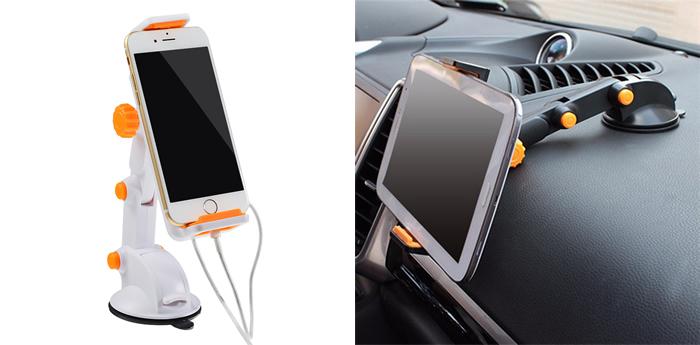 Масштабируемый держатель для телефона в авто