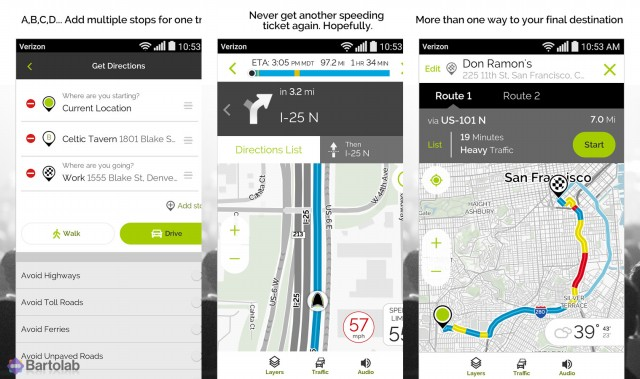MapQuest GPS Navigation & Maps Screenshot