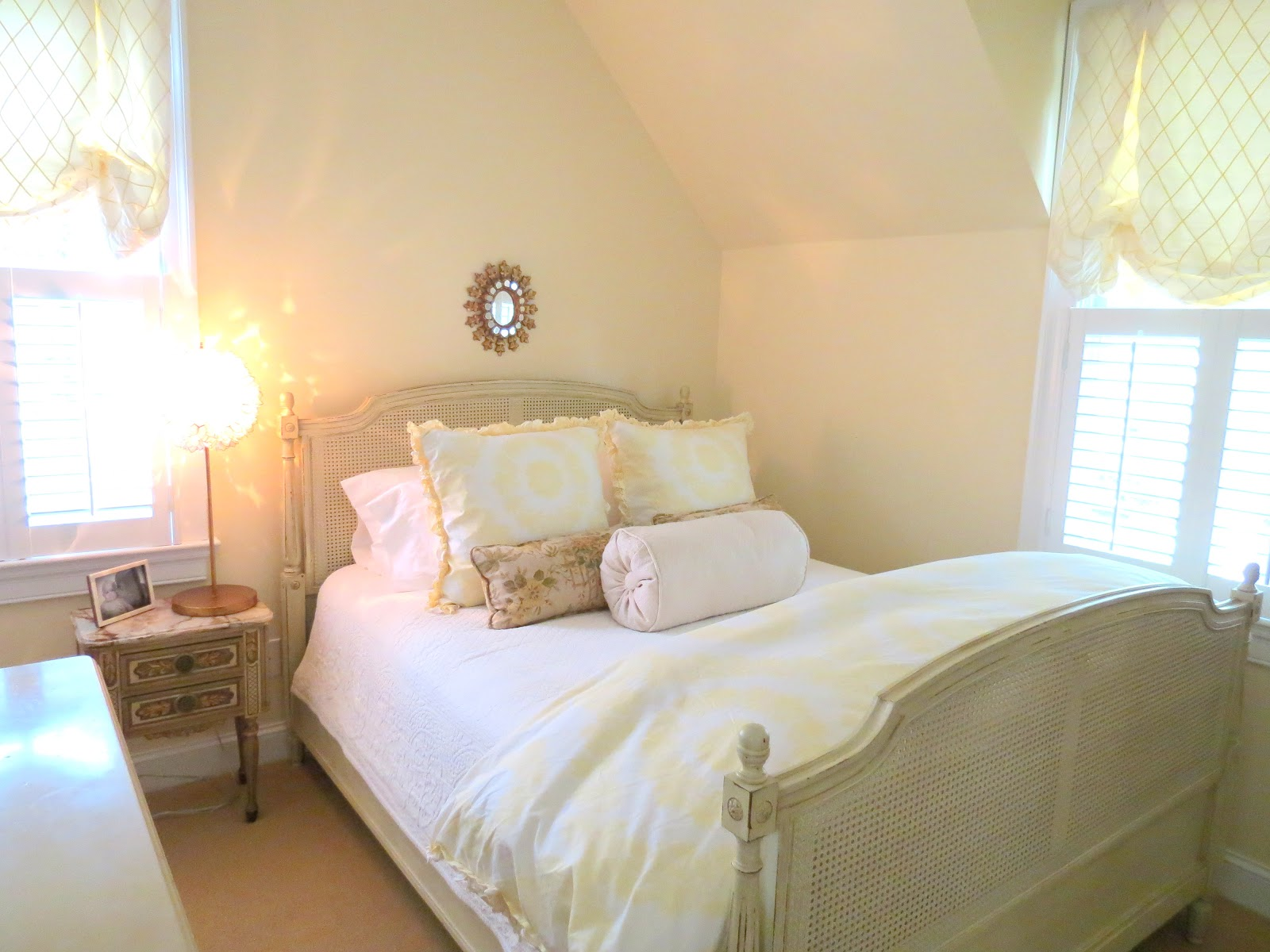 Modern french bedroom decor - White And Yellow Bedroom French Country