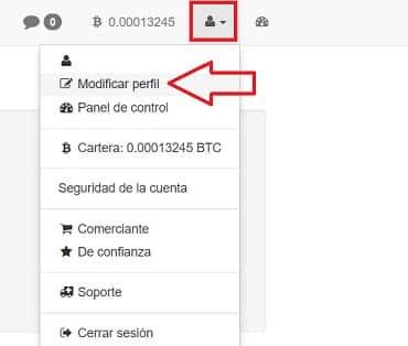 Modificar perfil localbitcoins comprar bitcoin