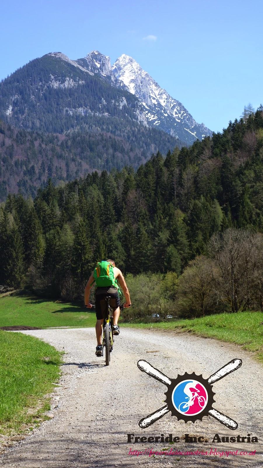 Waller Alm Wilder Kaiser mit dem Mountainbike