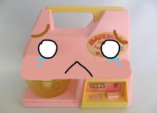 batedeira de brinquedo triste
