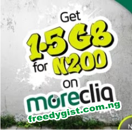 How To Get 1.5 GB data For Just 200 on 9Mobile, Get 9mobile 1.5GB  for N500, 9mobile MoreCliq 1.5GB data for 200 naira. How to subscribe to 9mobile 1.5GB data for 200, MoreCliq,