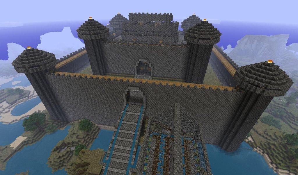 Captivating Huge Cobblestone Minecraft Castle