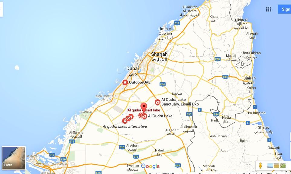 Al Qudra Lake Dubai Map Dubai Tourists Destinations and – Dubai Tourist Attractions Map