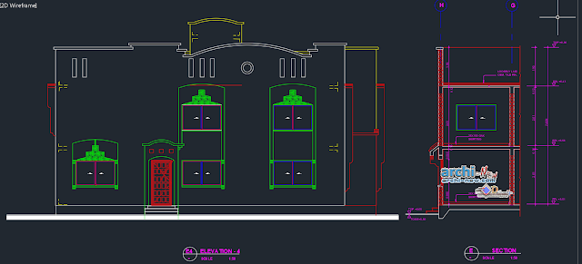Villa residence. type LB8 in AutoCAD