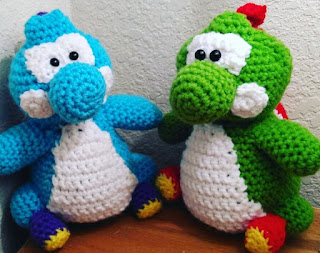 Crochet Yoshi Amigurumi Tutorial - YouTube | 253x320