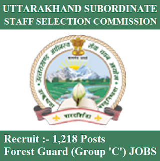 Uttarakhand Subordinate Service Selection Commission, UKSSSC, Forest Department, UKSSSC Answer Key, Answer Key, uksssc logo