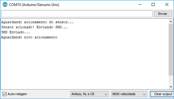 Envio de SMS com SIM800L - Serial Monitor