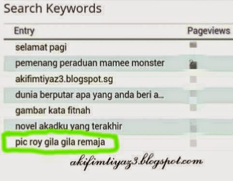 ❤ Search Keywords 16 Februari 2015 - Pic Roy Gila Gila Remaja ❤