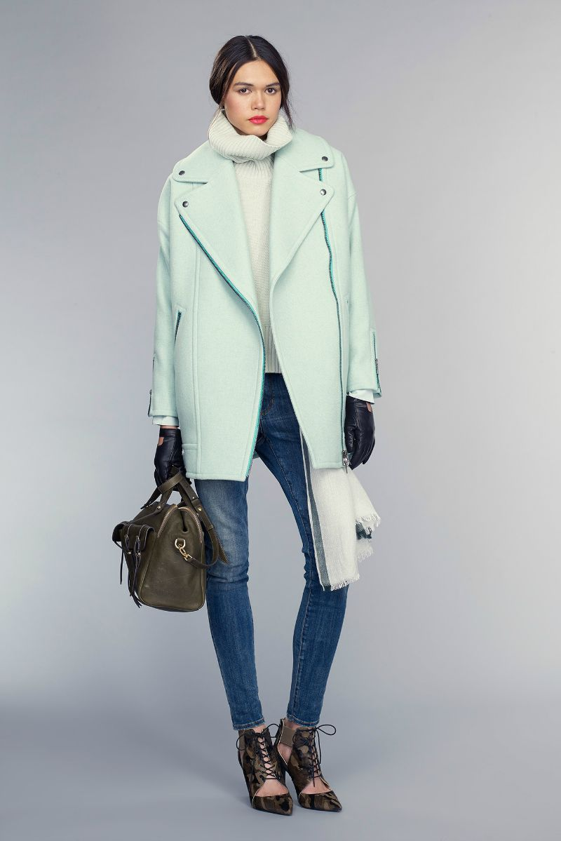banana republic fall 2015 ootd outfit mint jacket and jeans