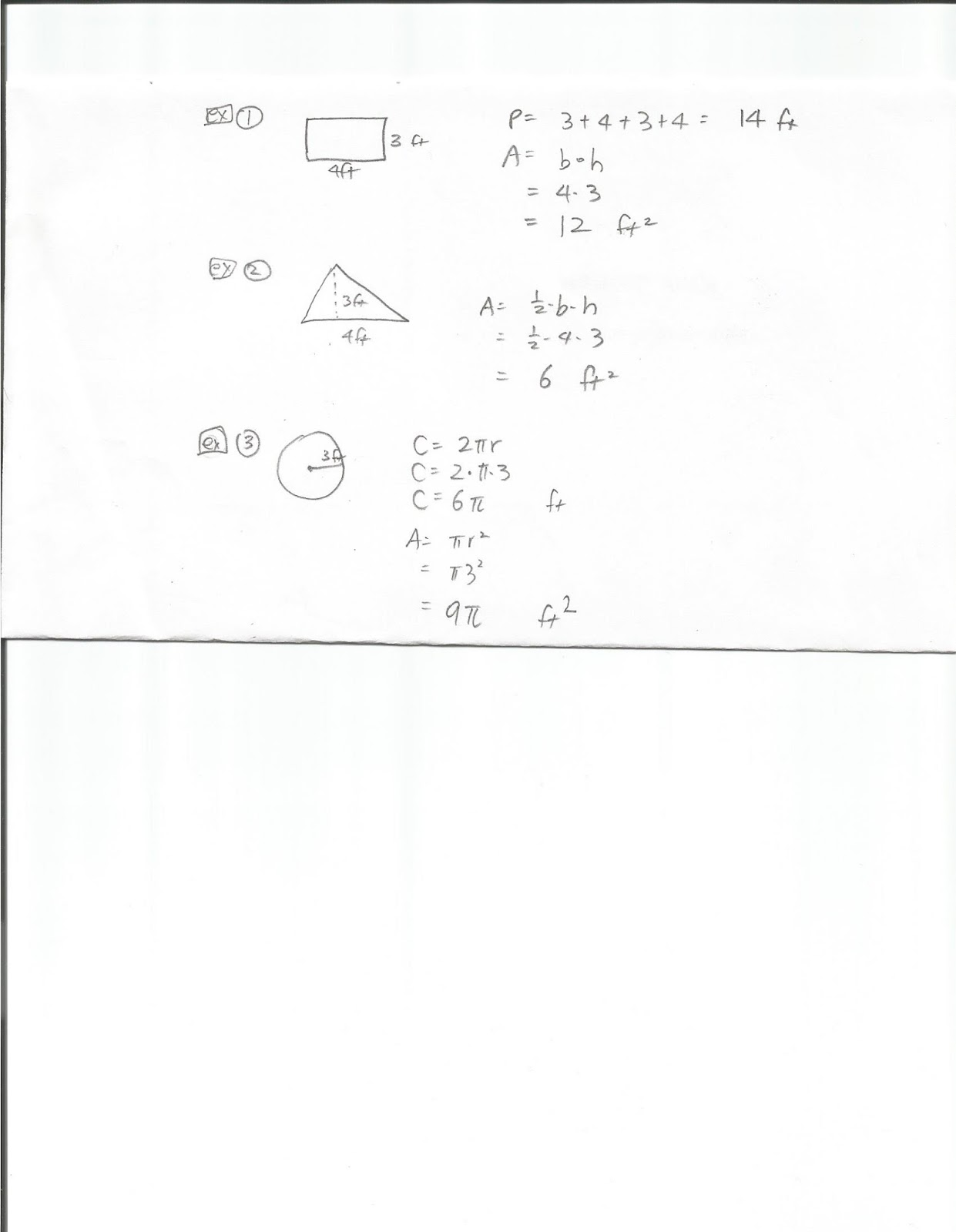 Geometry Common Core Style Find Perimeter Circumference