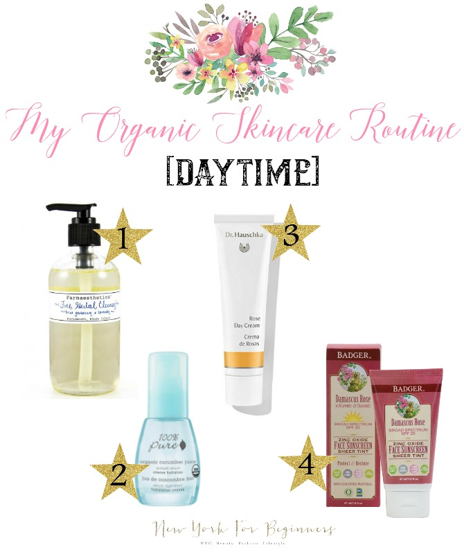 Organic skincare routine for dry sensitive skin