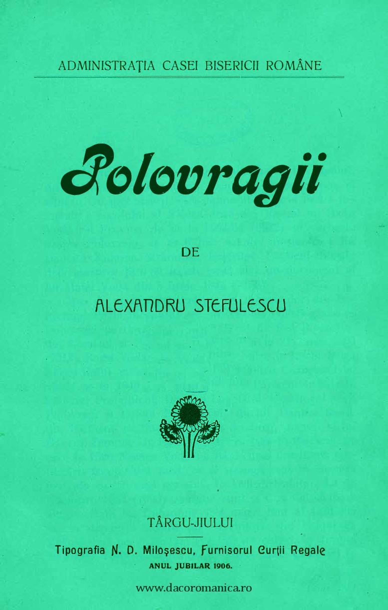 polovragii de alexandru stefulescu
