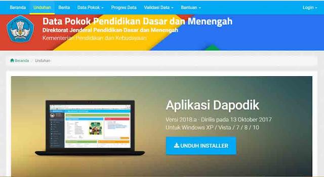 Cara Tepat Update Dapodik Versi 2018 ke Versi 2018.a