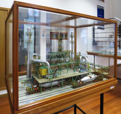 Museo de Historia de Avilés. Maquetas e historia de ENSIDESA. Planta de Desulfuración.