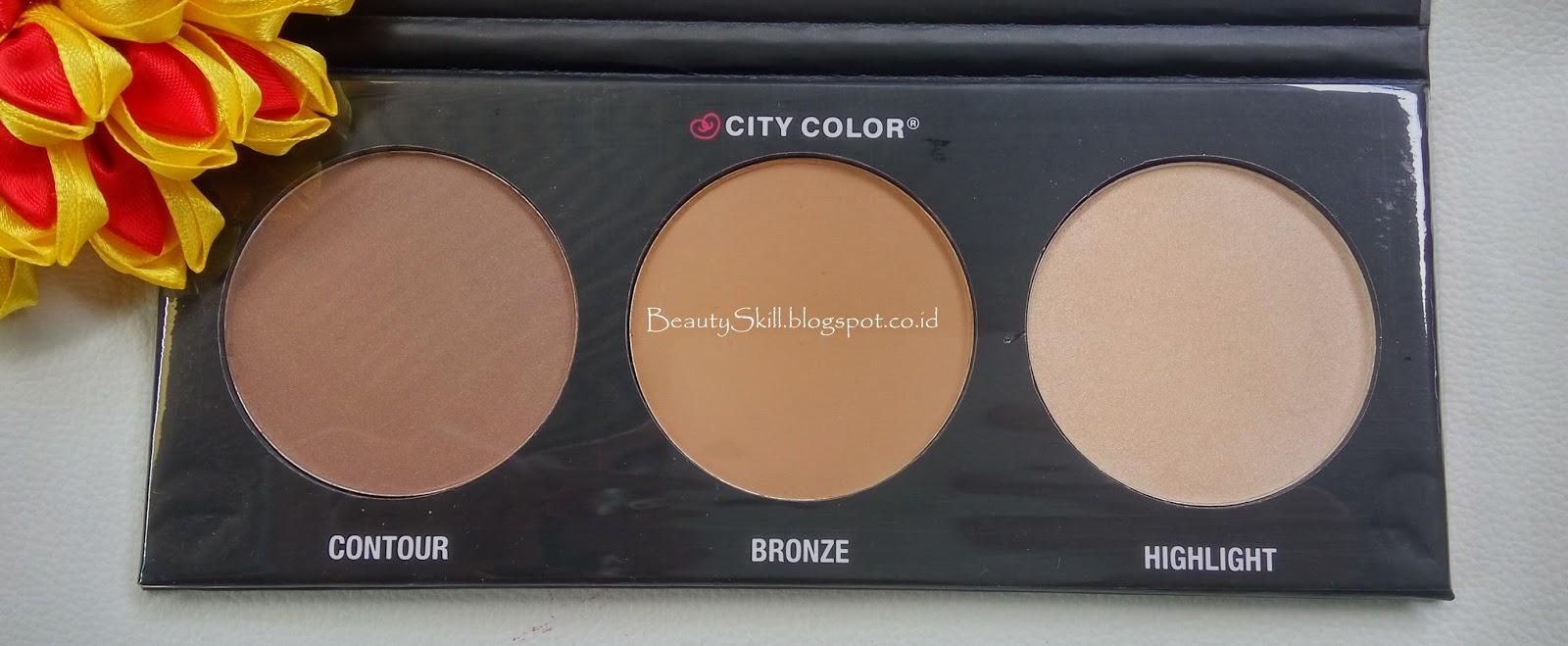 Review City Color Contour Effects 2 Tampil Cantik Palette Didalam 1 Ini Sudah Terdapat 3 Macam Yaitu Bronze Dan Highlight Menurutku Gak Rugi Sih Beli Inihehe Karena