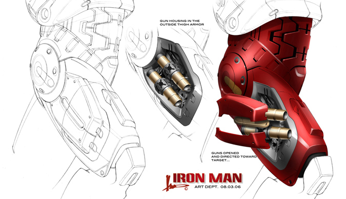 2008 S Iron Man Original Design For Tony Stark S Car Plus Unused Gadgets