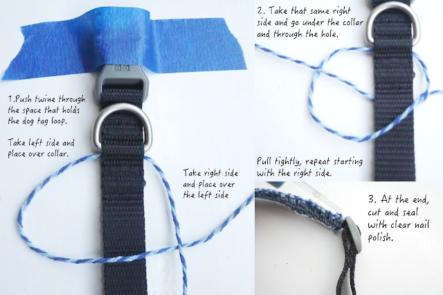 How to personalize a collar with square knots and make a matching bracelet