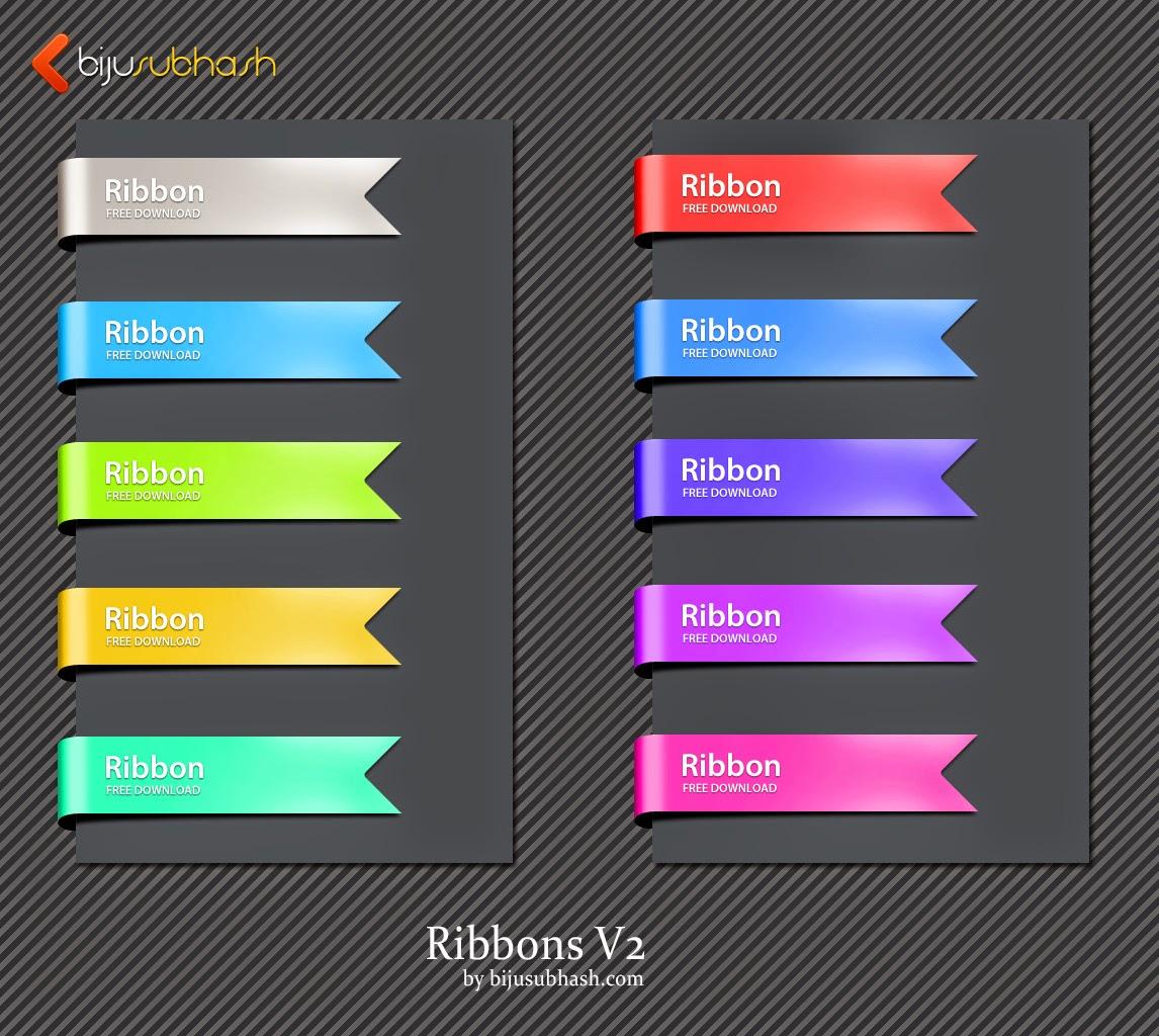 Ribbons PSD File