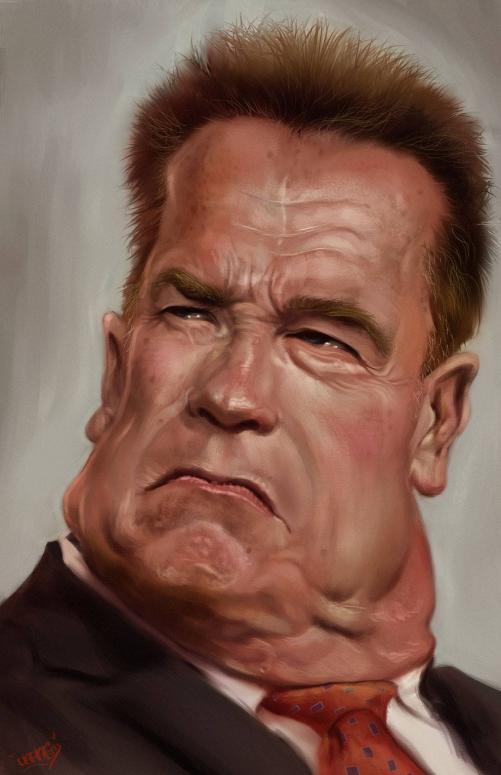 Arnold Schwarzenegger por Rafael Rivera DARAF
