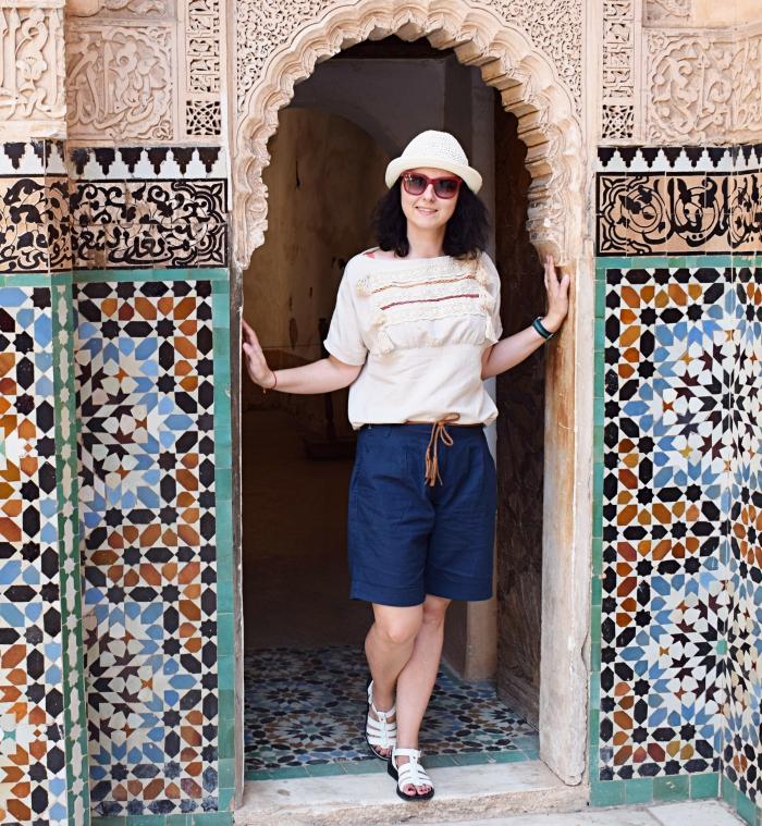Marrakesz i bluzka uszyta z wykroju Burda 03/2015