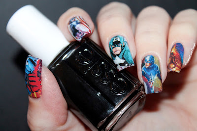 Nail Art : Captain America // Avenger // Marvel