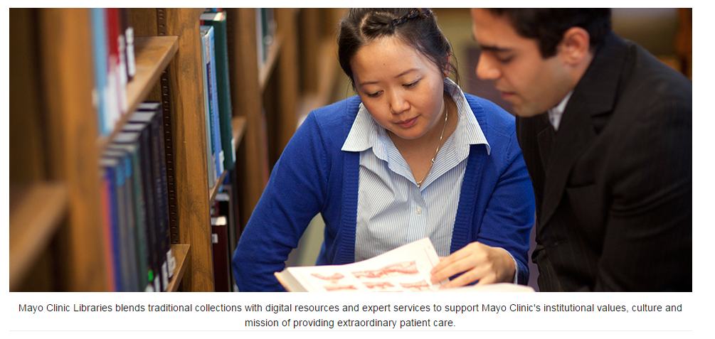 WHSLA blog: Mayo Clinic Libraries - staff changes and a job