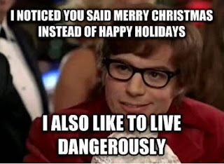 merry christmas instead of happy holiday funny meme