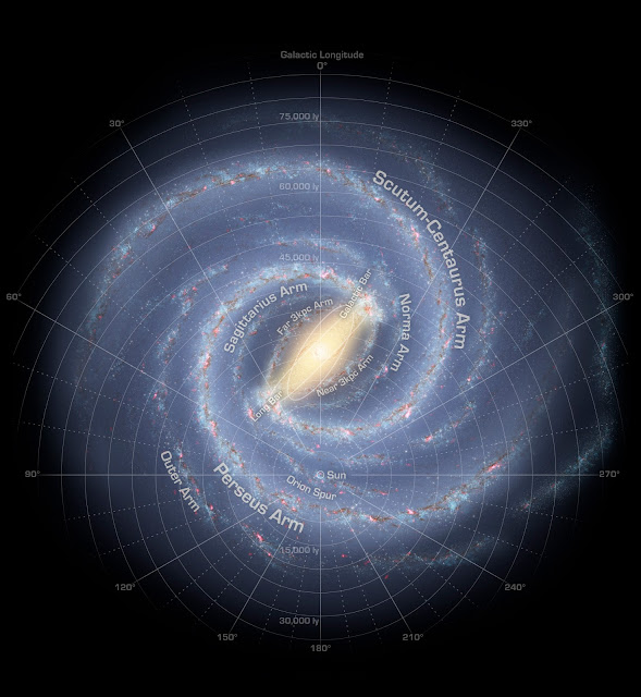 The map of the Milky Way Galaxy