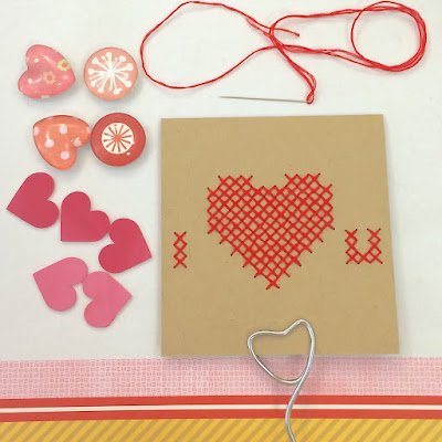 Valentine's Day Cards cross stitching