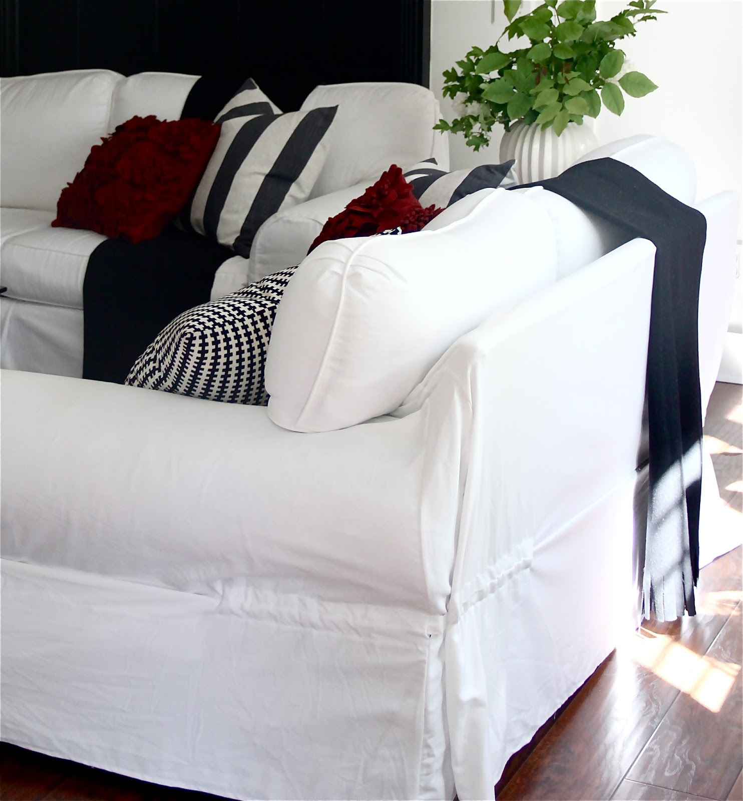 The Yellow Cape Cod Ten Year Old Sofa Makeover