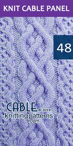 Knit Cable Panel Pattern 48, its FREE