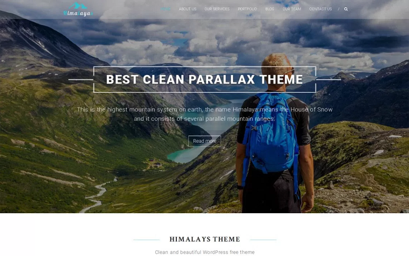 Himalayas One Page WordPress Theme
