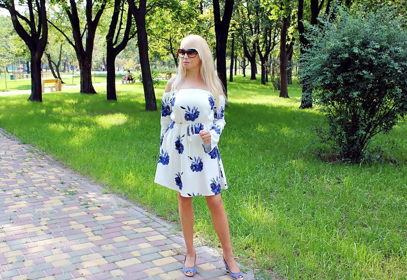 "ZAFUL Haul: Floral Long Sleeve Dress and Oversized Tee. ""Цветочное"" платье с открытыми плечами и футболка oversized."