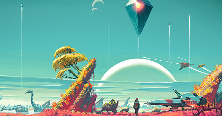 The Geeky Nerfherder: #CoolArt: 'No Man's Sky' Prints From