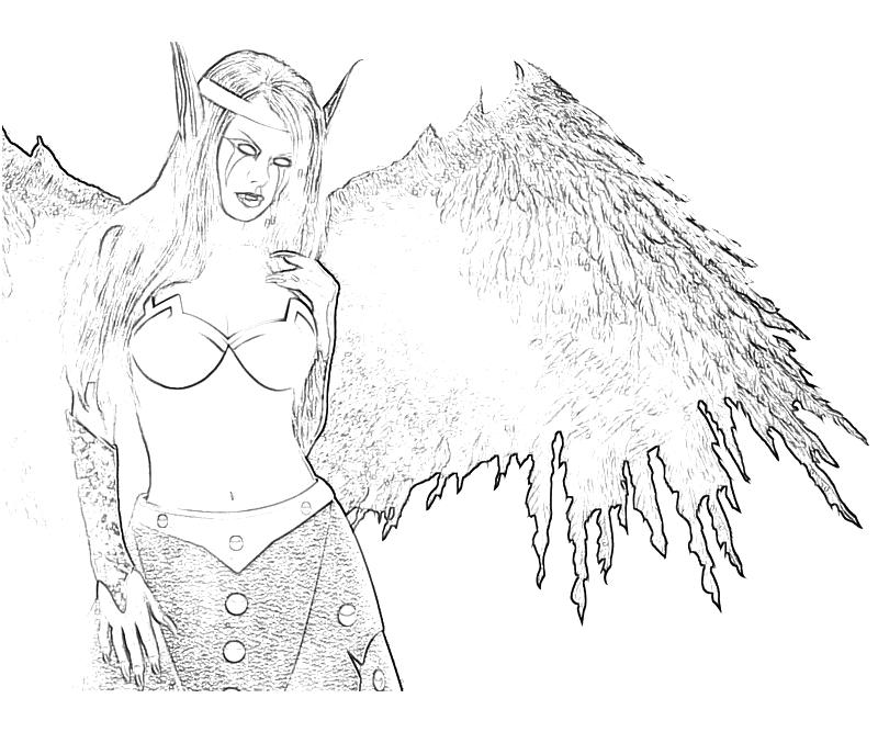 coloring pages of fallen angels - photo#23