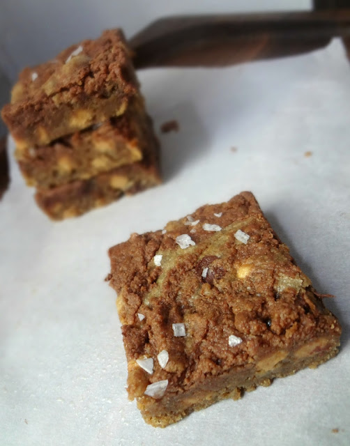 Brown Butter Nutella Swirled Peanut Butter Chip Blondies (with Sea Salt)