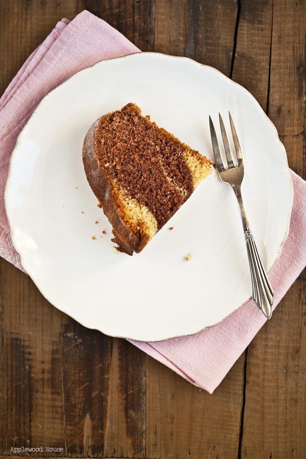 Marmorkuchen Stück Teller