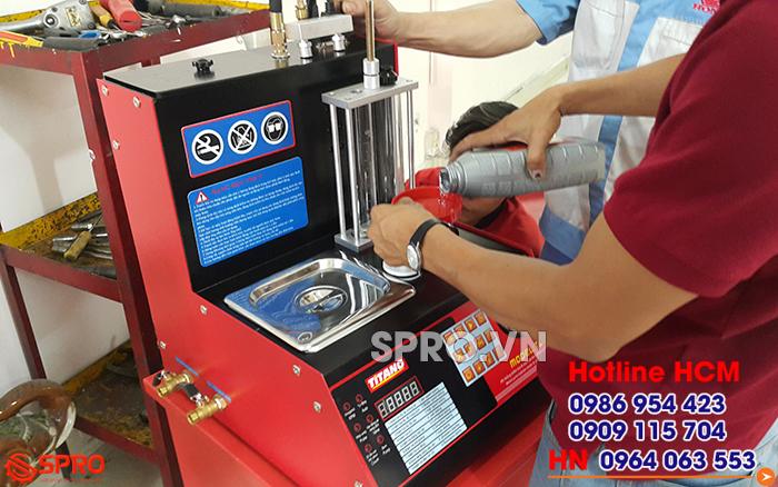Titano T2C - Hệ thống kiểm tra và súc rửa kim phun xe máy