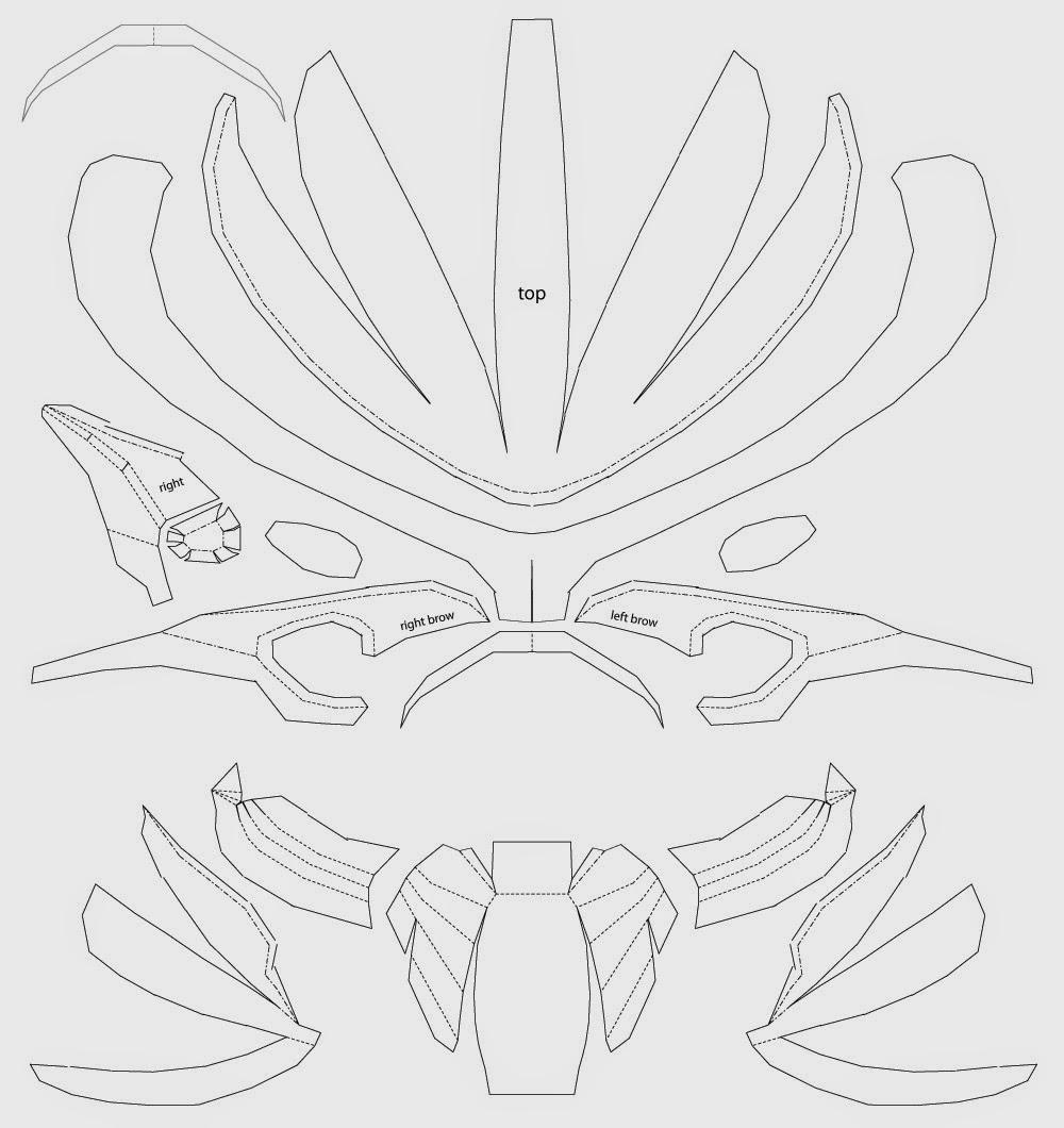 Dali-Lomo: Predator Costume Mask Cardboard DIY (template)