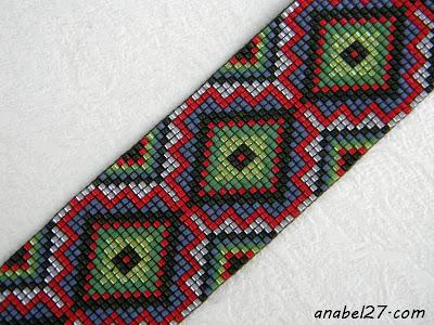 купить украшения из бисера браслет орнамент украина