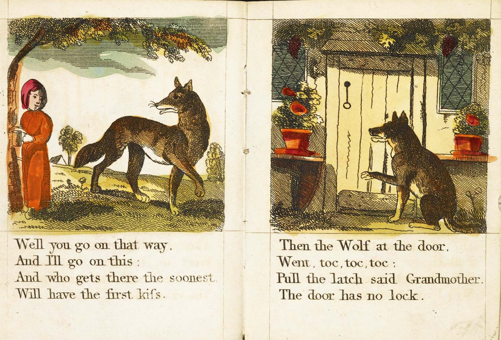 little red riding hood and other wolfish things chap book 1810