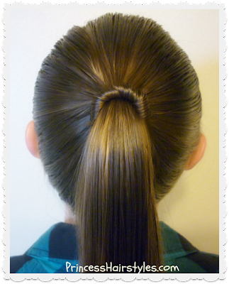Simple and fast hairstyle tutorial. Spindle top ponytail.