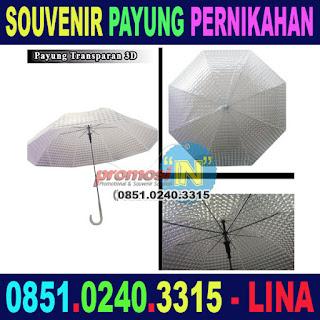 Jual Payung Transparan Souvenir Pernikahan