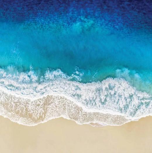 Aqua Ocean Photo Print Canvas Art