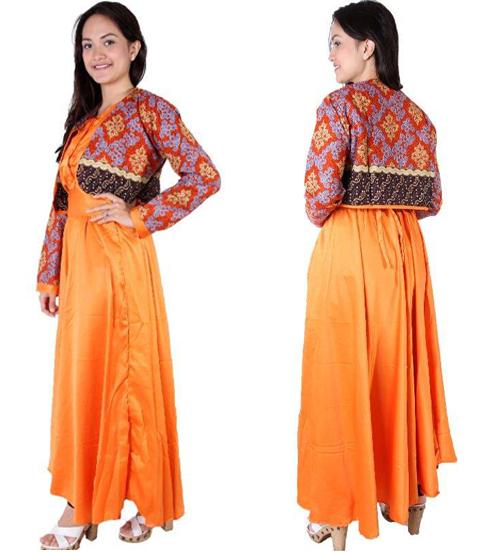 model baju gamis batik cardigan